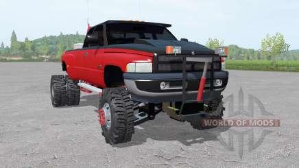 Dodge Ram 3500 Club Cab 1994 lifted для Farming Simulator 2017