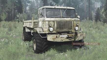 ГАЗ 66 Баба-яга для MudRunner