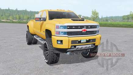 Chevrolet Silverado 3500 HD Crew Cab 2015 для Farming Simulator 2017