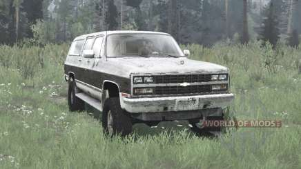 Chevrolet K1500 Suburban 1989 для MudRunner