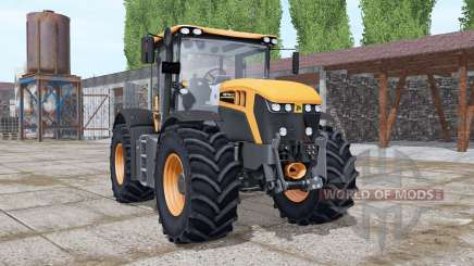 JCB Fastrac 4220 orange more options для Farming Simulator 2017