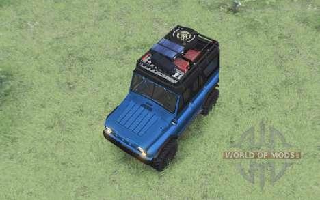 УАЗ 469 чёрно-синий для Spin Tires