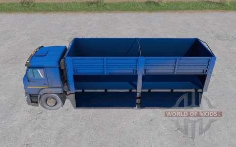 КамАЗ 65117 синий для Farming Simulator 2017