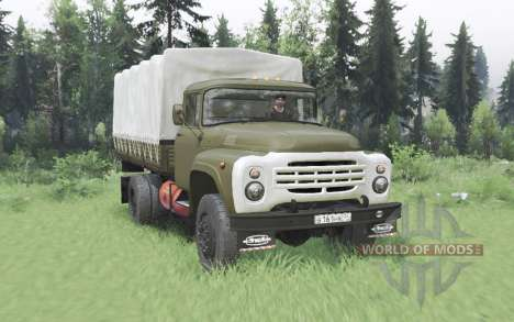 ЗиЛ 130 4x4 зелёный v2.0 для Spin Tires