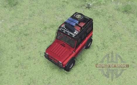 УАЗ 469 чёрно-красный для Spin Tires