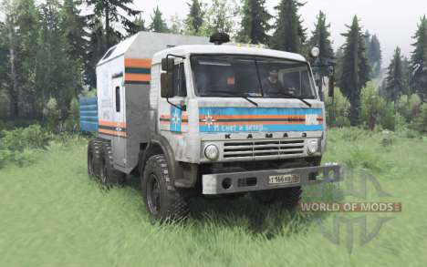 КамАЗ 43114 МЧС для Spin Tires