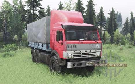 КамАЗ 43114 красный v1.2 для Spin Tires