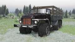 Урал 375 6x6 чёрный для Spin Tires
