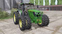 John Deere 6135R narrow twin wheels для Farming Simulator 2017