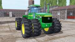 John Deere 8440 twin wheels для Farming Simulator 2017