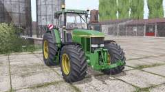 John Deere 7810 wide tyre для Farming Simulator 2017