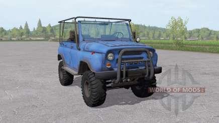 УАЗ 31519 умеренно-синий для Farming Simulator 2017
