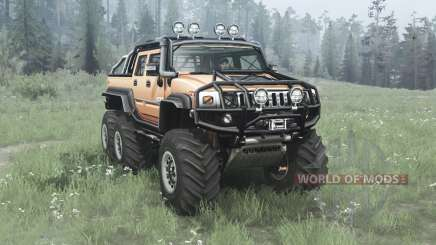 Hummer H2 SUT 6x6 v2.0 для MudRunner