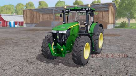 John Deere 7310R twin wheels для Farming Simulator 2015