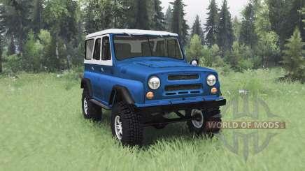 УАЗ 469 сине-белый для Spin Tires