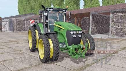 John Deere 7730 narrow double wheels для Farming Simulator 2017