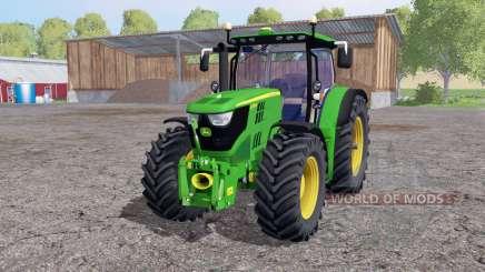 John Deere 6170R twin wheels для Farming Simulator 2015