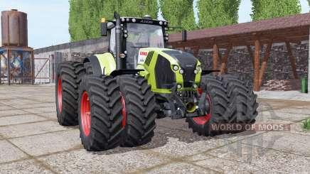CLAAS Axion 870 double wheels для Farming Simulator 2017