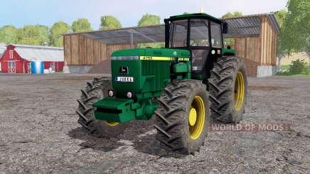 John Deere 4755 lime green для Farming Simulator 2015