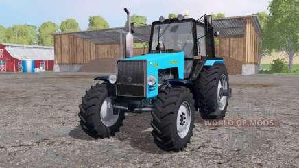 МТЗ 1221В Беларус ярко-голубой для Farming Simulator 2015