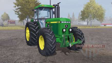 John Deere 4455 moderate lime green для Farming Simulator 2013