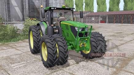 John Deere 6135R narrow twin wheels для Farming Simulator 2017