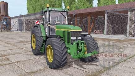 John Deere 7800 wide tyre для Farming Simulator 2017