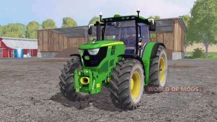 John Deere 6170R lime green для Farming Simulator 2015