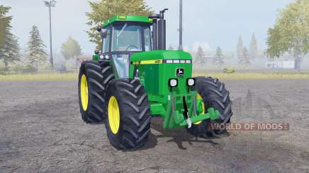 John Deere 4455 twin wheels для Farming Simulator 2013
