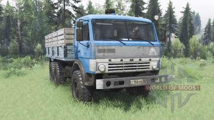 КамАЗ 43114 синий v1.2 для Spin Tires