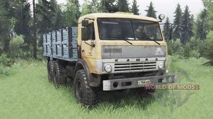 КамАЗ 43114 мягко-оранжевый v1.2 для Spin Tires