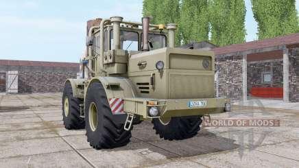 Кировец К-700А тёмно-серо-жёлтый для Farming Simulator 2017