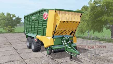 Lely Tigo XR 75 D dark lime green для Farming Simulator 2017