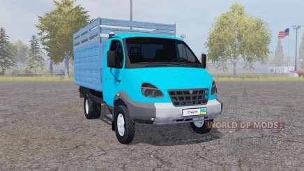 ГАЗ 3310 Валдай 2004 голубой для Farming Simulator 2013