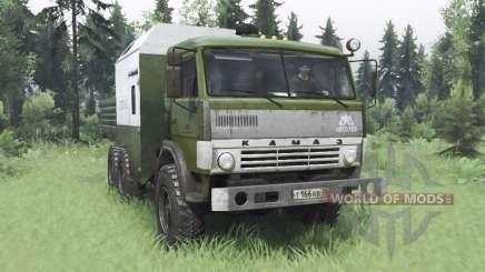 КамАЗ 43114 зелёный v1.2 для Spin Tires