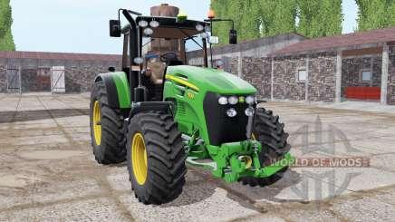 John Deere 7830 lime green для Farming Simulator 2017