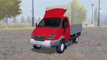 ГАЗ 3310 Валдай 2004 красный для Farming Simulator 2013