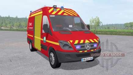 Mercedes-Benz Sprinter 311 CDI Sapeurs-Pompiers для Farming Simulator 2017
