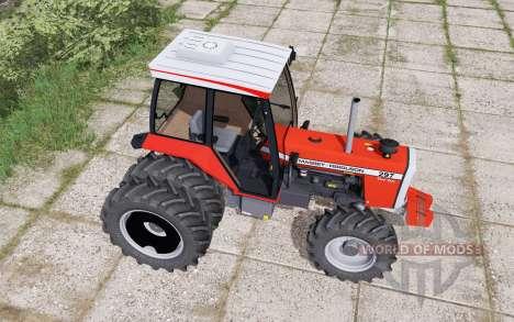 Massey Ferguson 297 Turbo dual rear для Farming Simulator 2017