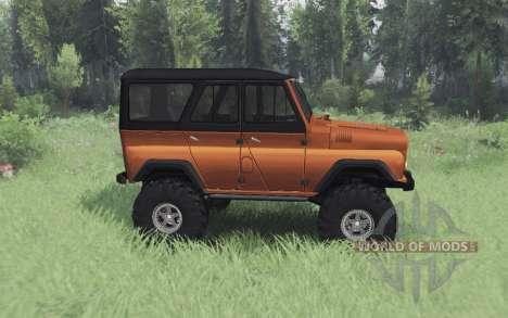 УАЗ 469 чёрно-оранжевый для Spin Tires