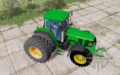 John Deere 7710 dual rear для Farming Simulator 2017
