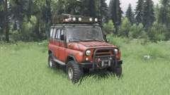 УАЗ 31514 умеренно-красный для Spin Tires