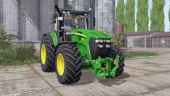 John Deere 7930 narrow twin wheels для Farming Simulator 2017