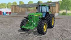 John Deere 4455 twin wheels для Farming Simulator 2015