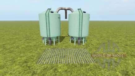 Seeds and Fertilizer Silo для Farming Simulator 2017