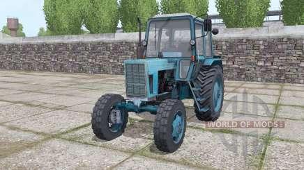 МТЗ 80 Беларус с фронтальным погрузчиком для Farming Simulator 2017