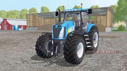 New Holland T8020 dual rear для Farming Simulator 2015