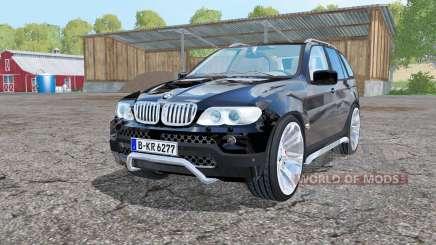 BMW X5 (E53) 2004 black для Farming Simulator 2015