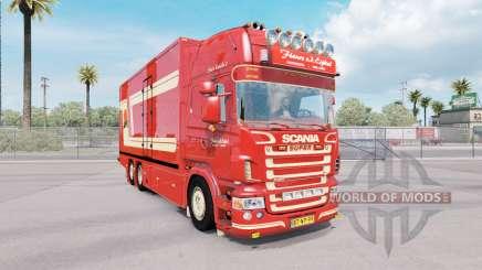 Scania R620 Fleurs для American Truck Simulator