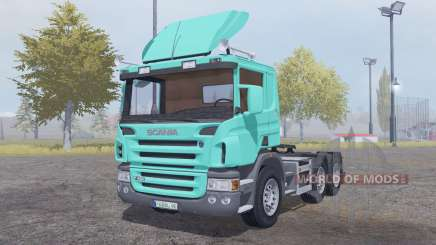 Scania P420 bright turquoise для Farming Simulator 2013